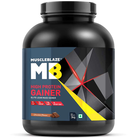 MuscleBlaze High Protein Lean Mass Gainer, 6.6 lb Chocolate