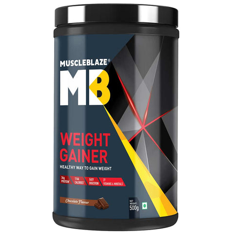 MuscleBlaze Weight Gainer with Added Digezyme, 1.1 lb Chocolate