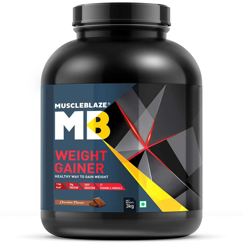 COMBO MuscleBlaze Weight Gainer with Added Digezyme, 2.2 lb Chocolate