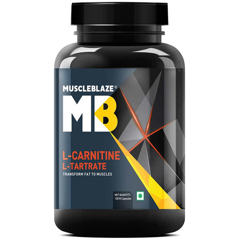 MuscleBlaze L-Carnitine L-Tartrate, 120 capsules Unflavoured