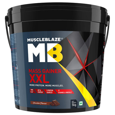 MuscleBlaze Mass Gainer XXL, 11 lb Chocolate