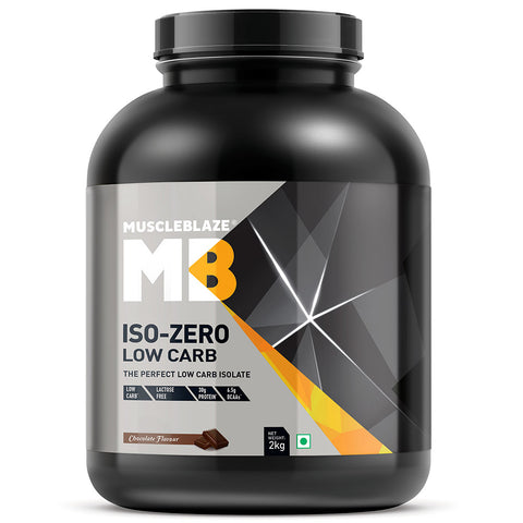 MuscleBlaze Iso-Zero, 4.4 lb Low Carb Chocolate