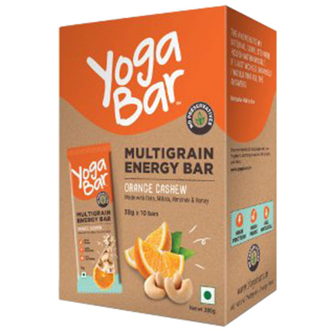 Yogabars Multigrain Energy Bars, 10 bar(s) Cashew Orange