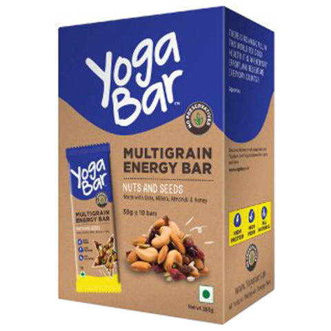 Yogabars Multigrain Energy Bars, 10 bar(s) Nuts & Seeds