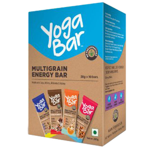 Yogabars 100% Natural Energy Bar Box, 10 bar(s) Vanilla,Chocolate & Peanut