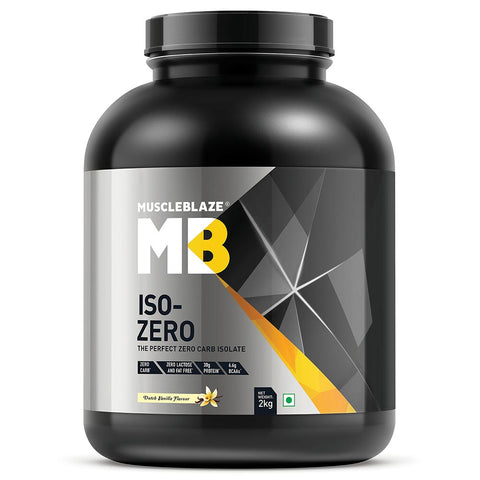MuscleBlaze Iso-Zero, 4.4 lb Zero Carb Dutch Vanilla
