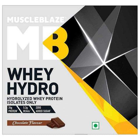 MuscleBlaze Whey Hydro, 30 g Chocolate