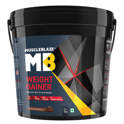 MuscleBlaze Weight Gainer with Added Digezyme, 11 lb Chocolate