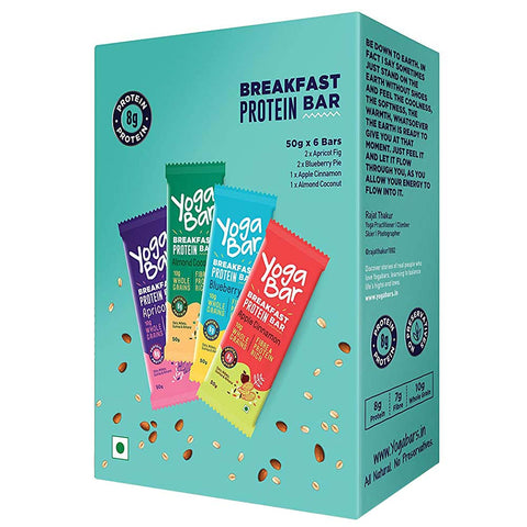 Yogabars Breakfast Protein Bar, 6 Piece(s)/Pack Variety Pack