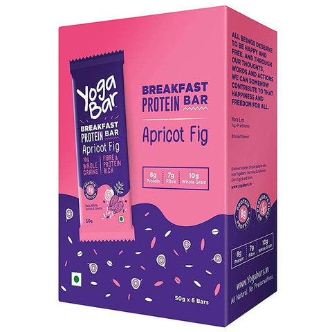 Yogabars Breakfast Protein Bar, 6 Piece(s)/Pack Apricot Fig