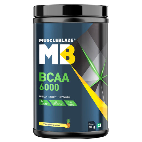 MuscleBlaze BCAA 6000, 0.88 lb Pineapple