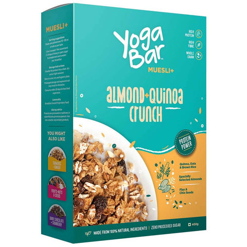 Yogabars Wholegrain Breakfast Muesli, 0.400 kg Almond and Quinoa Crunch