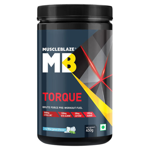 MuscleBlaze Torque Pre-Workout, 0.99 lb Icy Blue Splash