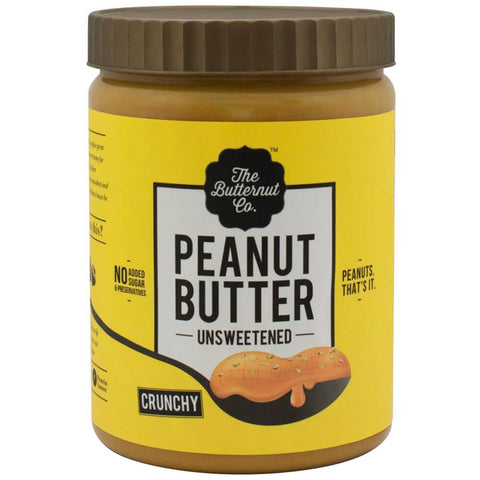 The Butternut Co. Unsweetened Peanut Butter, 1 kg Crunchy