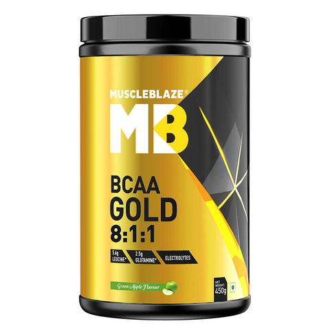 MuscleBlaze BCAA Gold 8:1:1, 0.99 lb Green Apple