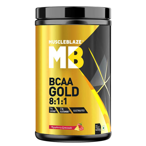 MuscleBlaze BCAA Gold 8:1:1, 0.99 lb Raspberry Lemonade