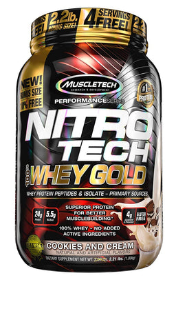 MuscleTech Performance Series NITRO TECH COOKIES AND CREAM 2.2LBS