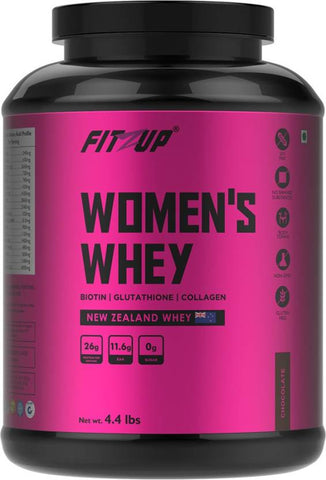 FitZup Womens Whey Chocolate Whey Protein (4.4 pounds. Chocolate)