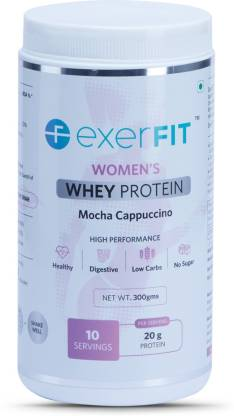 EXERFIT Women's Whey Protein Whey Protein  (300 g, Mocha Cappuccino)