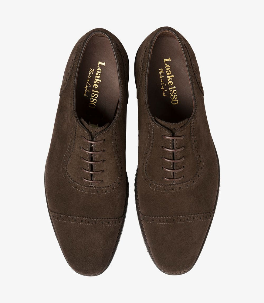 Load image into Gallery viewer, Loake 1880 Fleet Dark Brown Suede