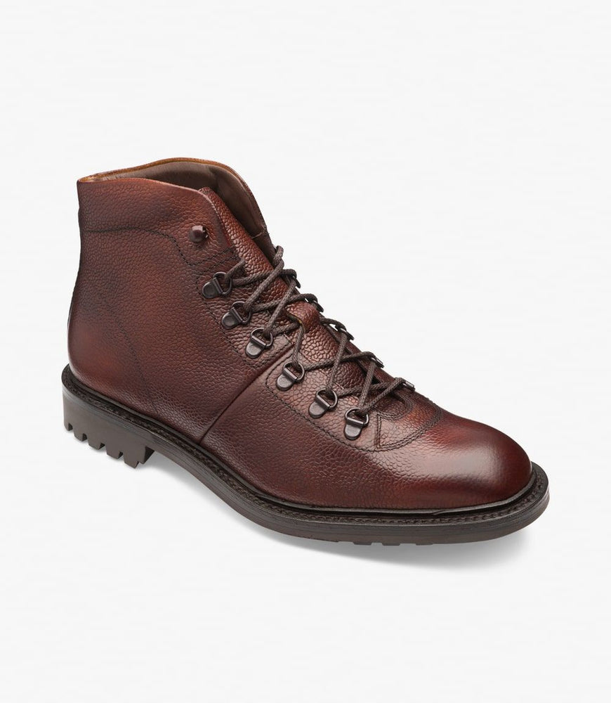 Loake 1880 Hiker Boot Oxblood Grain
