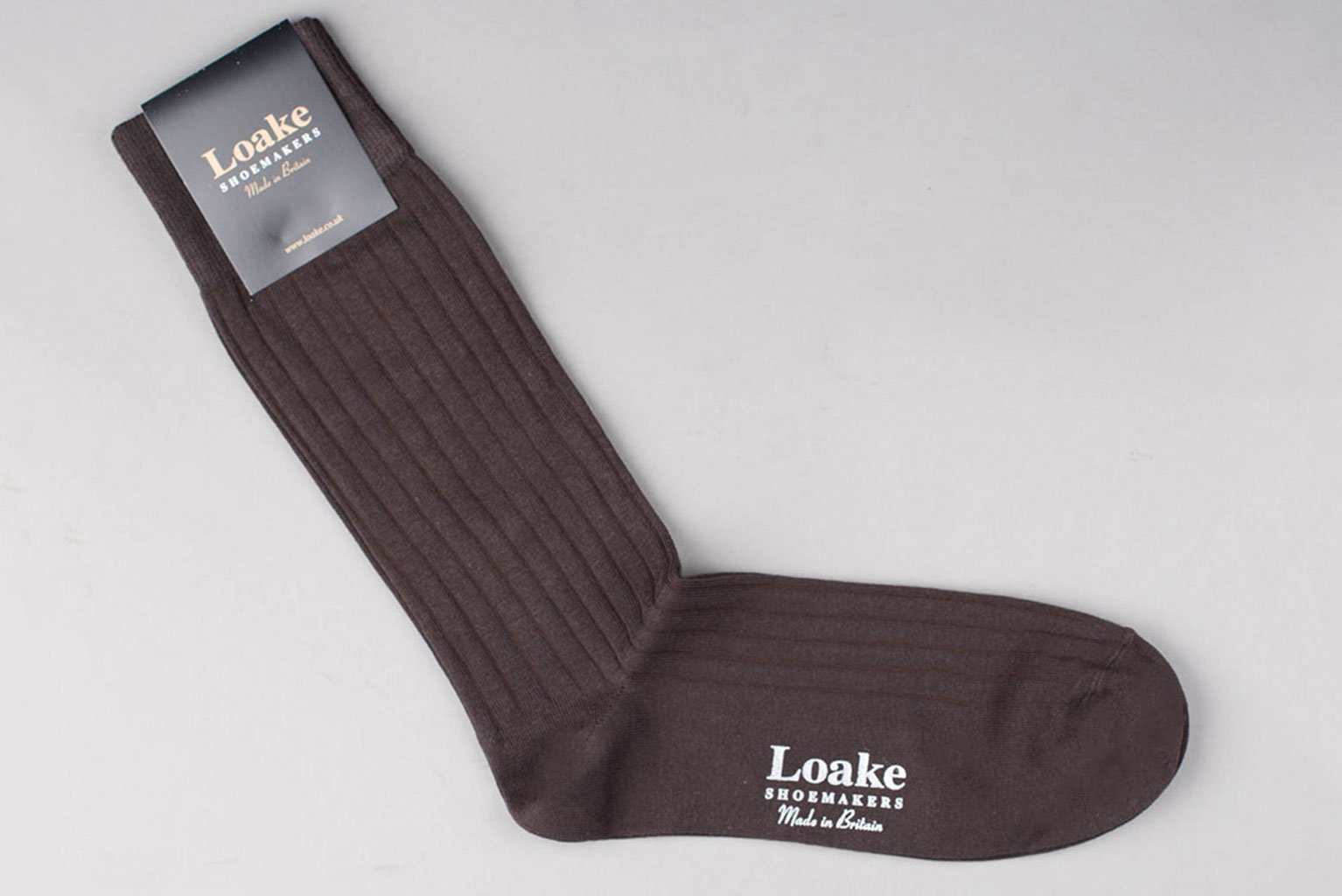 Loake Muirfield Cotton Socks - Brown