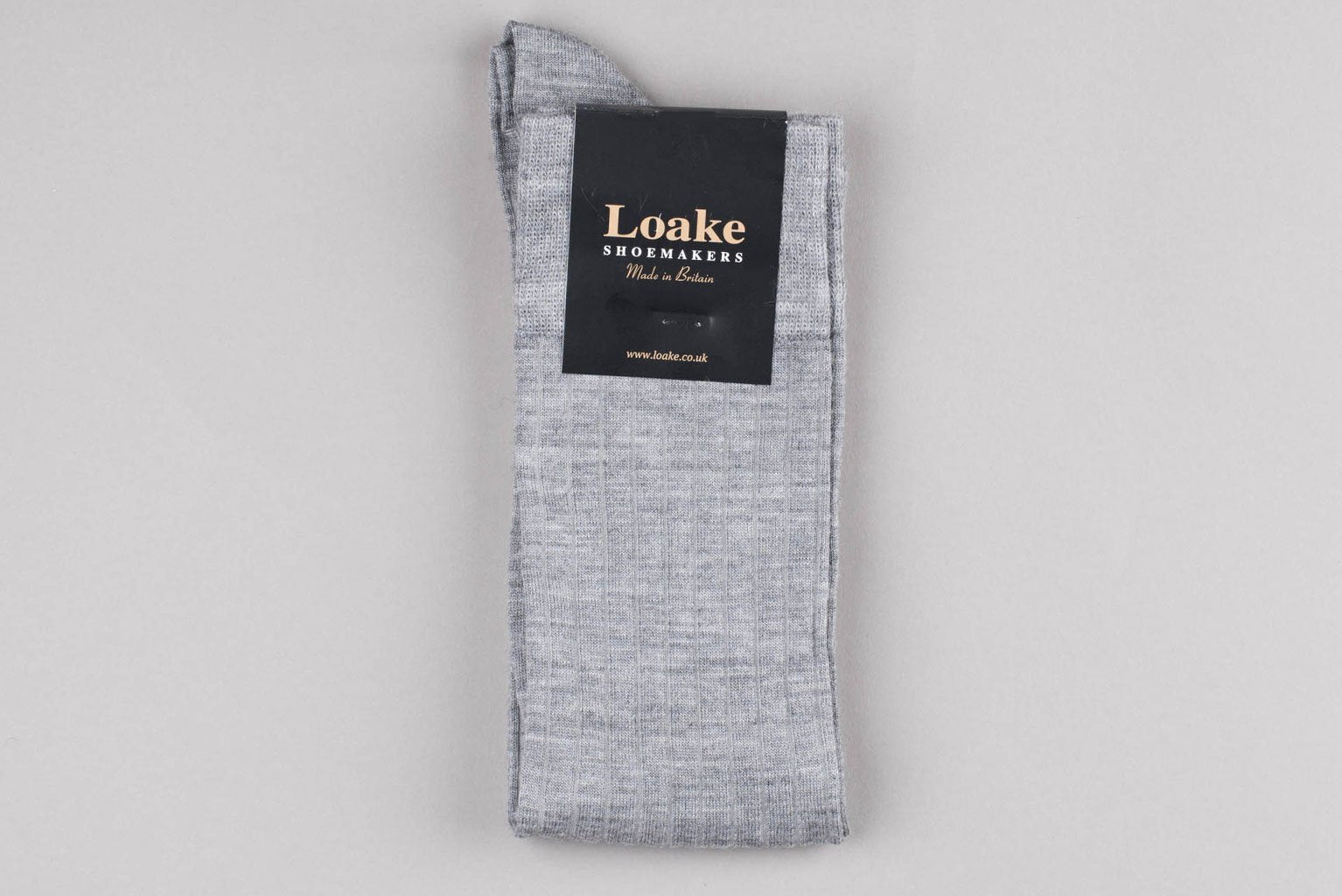 Loake Carnoustie Wool Long Socks - Grey