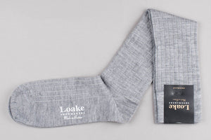 Load image into Gallery viewer, Loake Carnoustie Wool Long Socks - Grey