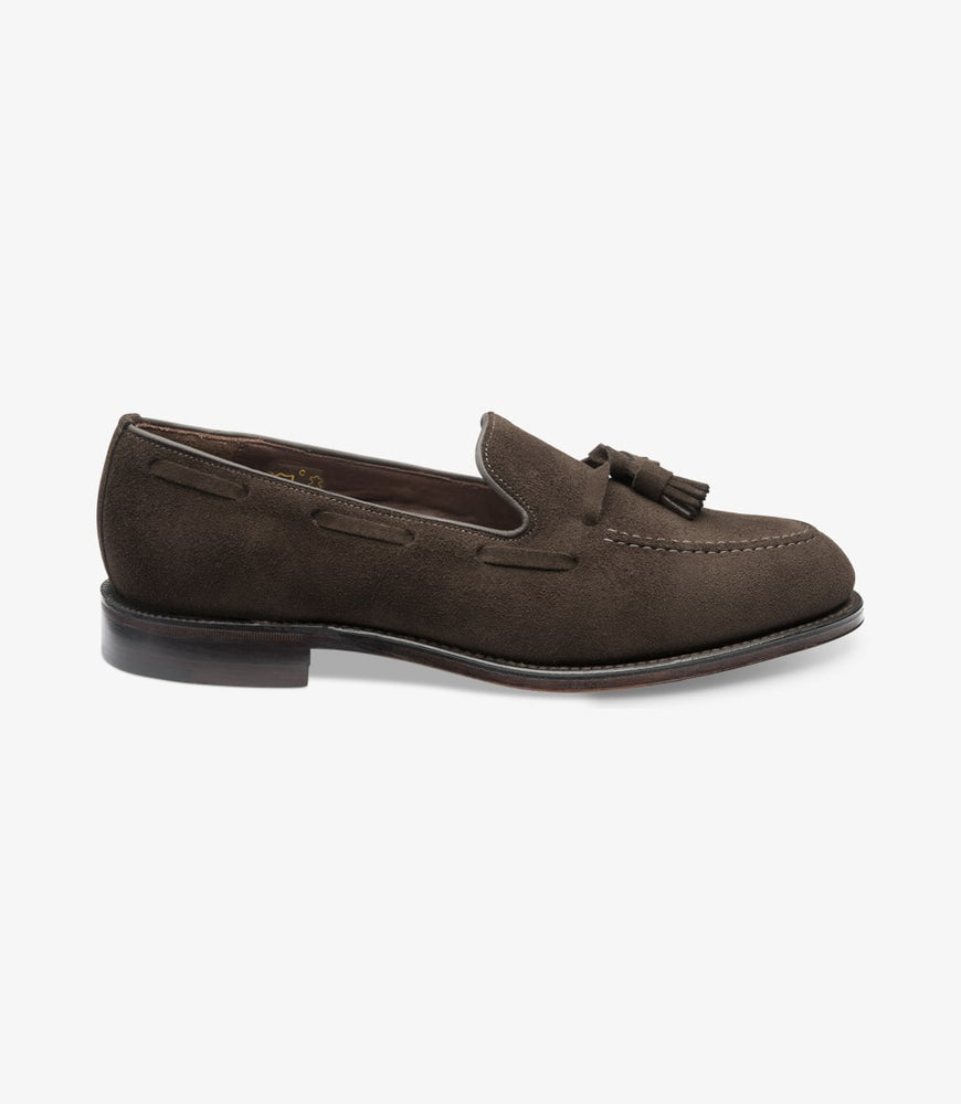 Load image into Gallery viewer, Loake 1880 Russell Dark Brown Suede