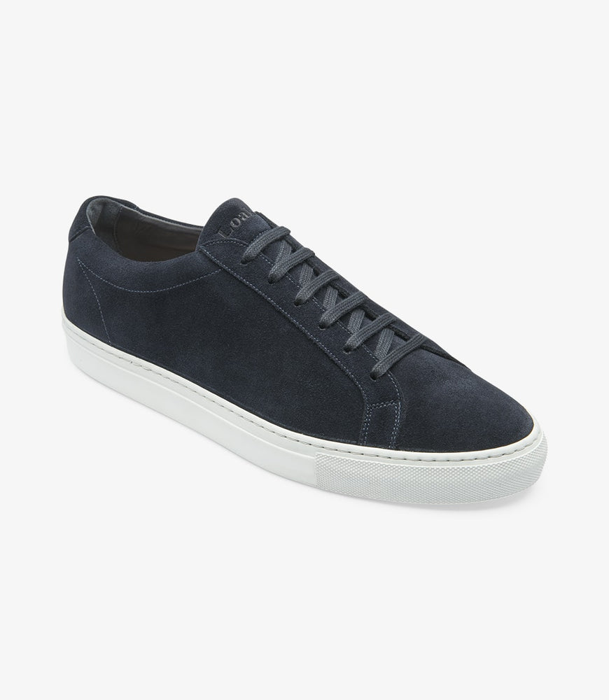 Loake Sprint Navy Suede