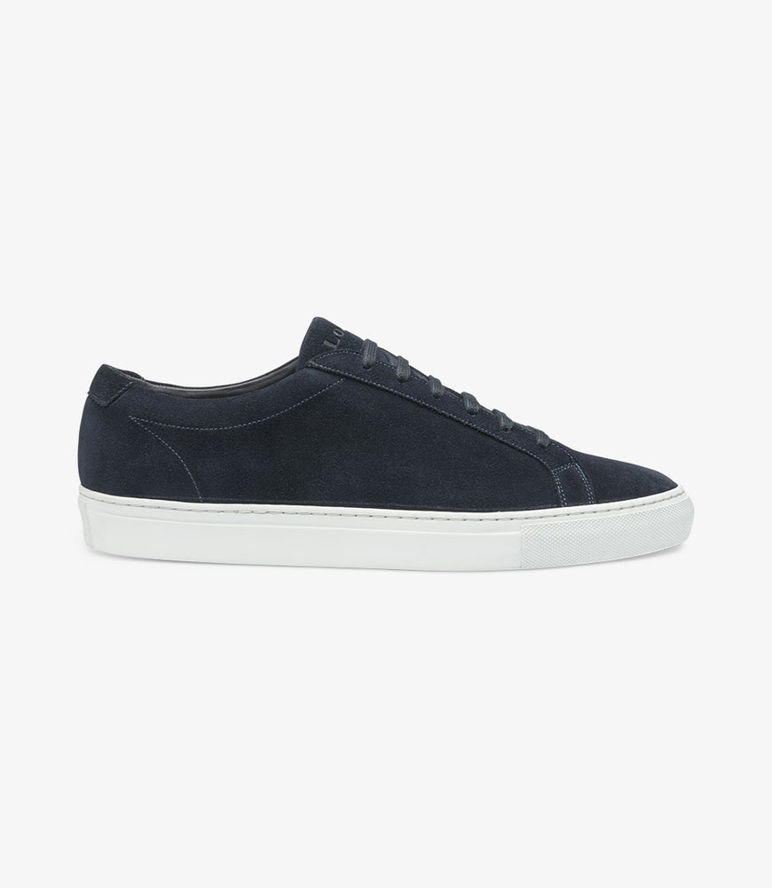 Load image into Gallery viewer, Loake Sprint Navy Suede