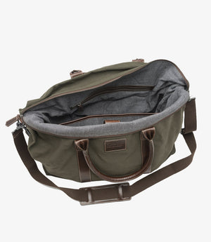 Load image into Gallery viewer, Loake Balmoral Weekend Bag Green Canvas