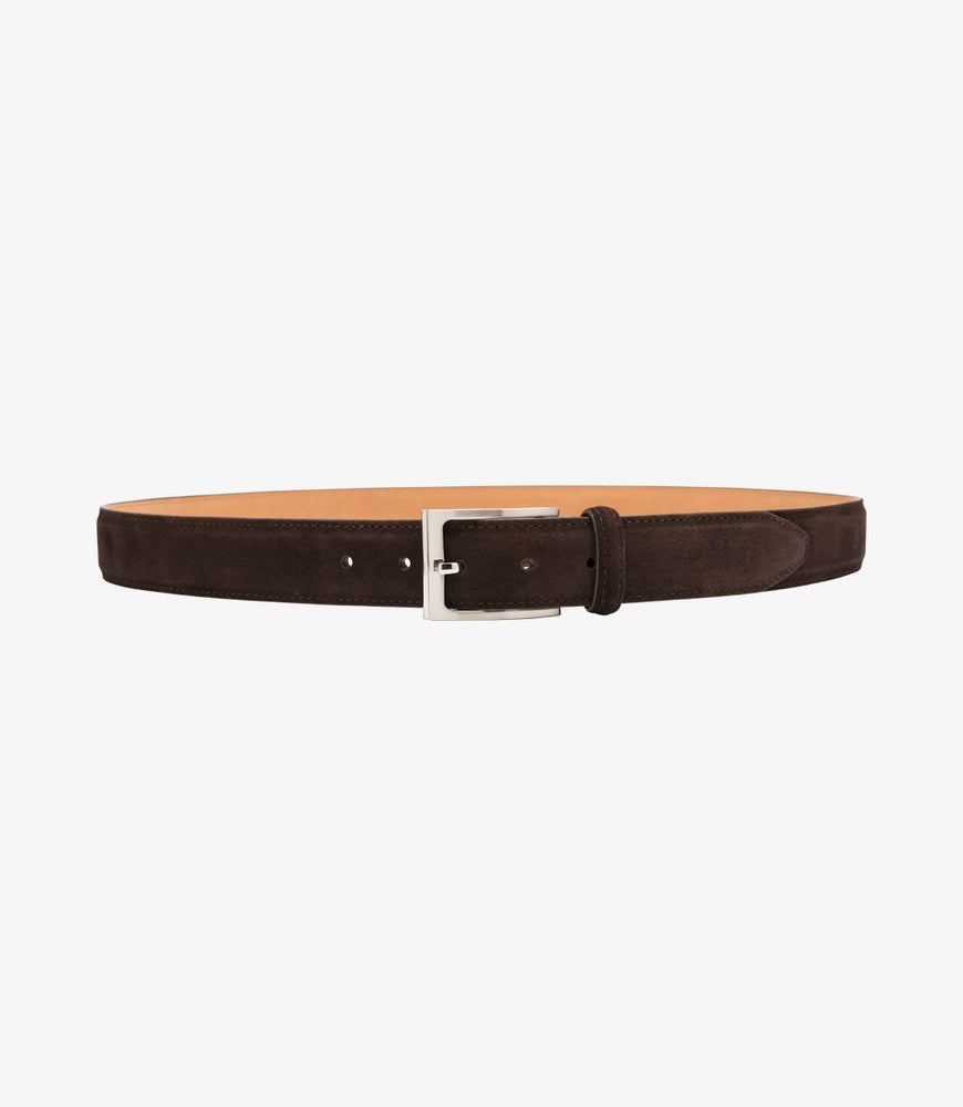 Load image into Gallery viewer, Loake William Belt Dark Brown Suede