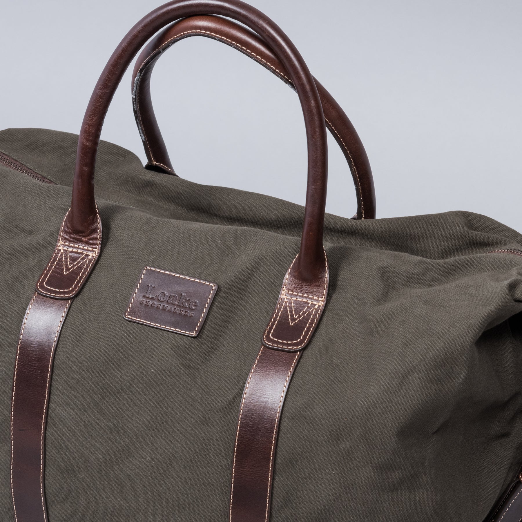 Balmoral Weekend Bag Green Canvas