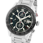 TAG HEUER Carrera Automatic Stainless Steel Black Dial Mens Watch CAR201Z.BA0714