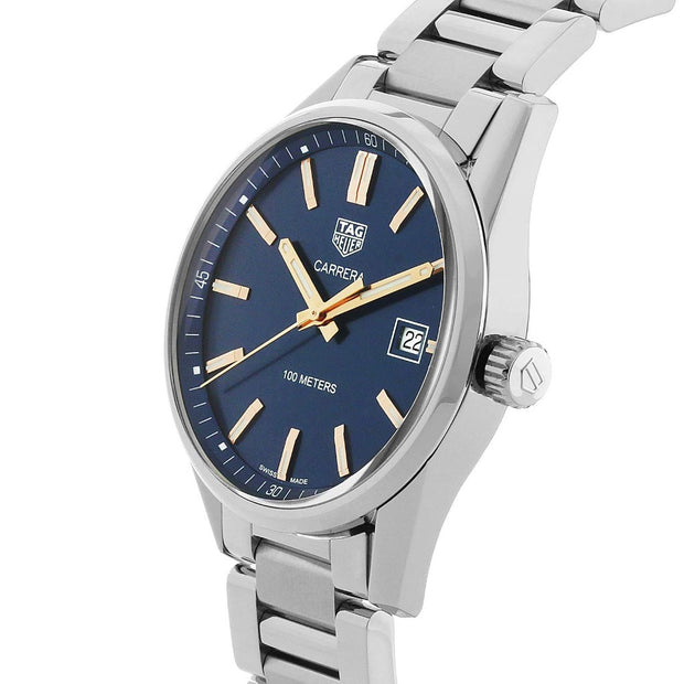 TAG HEUER Carrera Quartz Stainless Steel Blue Dial Watch WAR1112.BA0601
