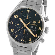 Tag HEUER Carrera Automatic Stainless Steel Black Dial Mens Watch CV2A1AB.BA0738