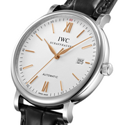 IWC Schaffhausen Portofino Automatic Stainless Steel Silver Dial Mens Watch IW356517