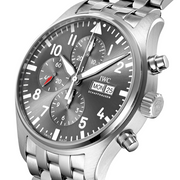 IWC Schaffhausen Pilot Automatic Stainless Steel Grey Dial Mens Watch IW377719