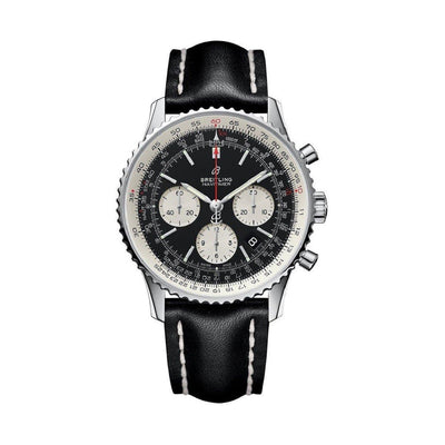Breitling-Navitimer-1-B01-Chronograph-Mens-Watch-AB0121211B1X1-43-mm-Black-Dial