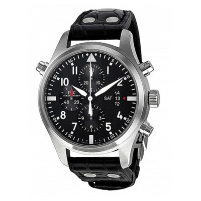 IWC-Pilot-Double-Chronograph-IW377801-Black-front