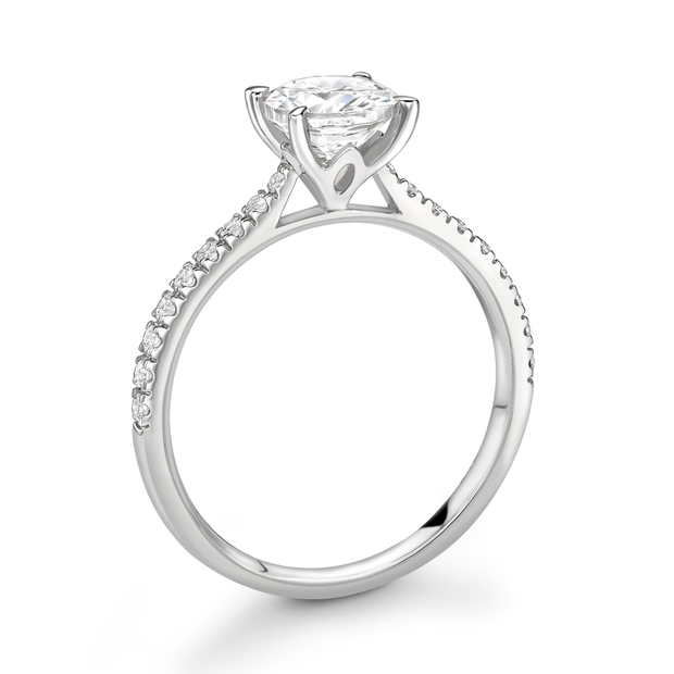 Alexia Platinum Solitaire Diamond Engagement Ring