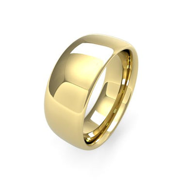 SLIGHT COURT 9CT GOLD WEDDING BAND HEAVY