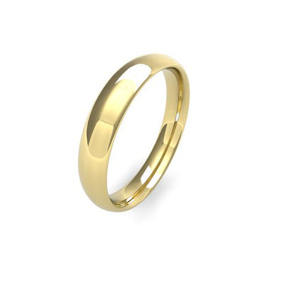 TRADITIONAL COURT 9CT GOLD WEDDING BAND MEDIUM