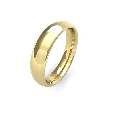TRADITIONAL COURT 18CT GOLD WEDDING BAND HEAVY