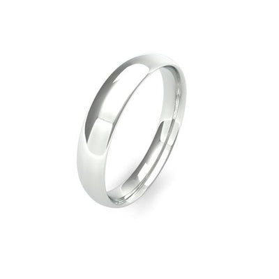 TRADITIONAL COURT 18CT WHITE GOLD WEDDING BAND LIGHT