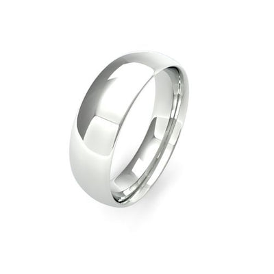 TRADITIONAL COURT 9CT WHITE GOLD WEDDING BAND MEDIUM