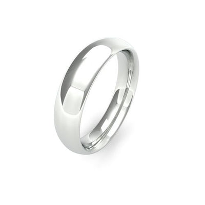 TRADITIONAL COURT 9CT WHITE GOLD WEDDING BAND HEAVY