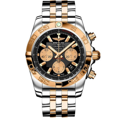 breitling-stainless-steel-Cb011012b968-Chronomat-44-Rose-gold-And-Stainless-Steel-Chronograph-Watch