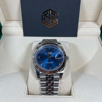 Rolex Datejust 41 126334 Azzurro Blue Dial Jubilee 2021 Brand New Watch